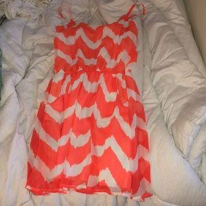 Orange and White Dress